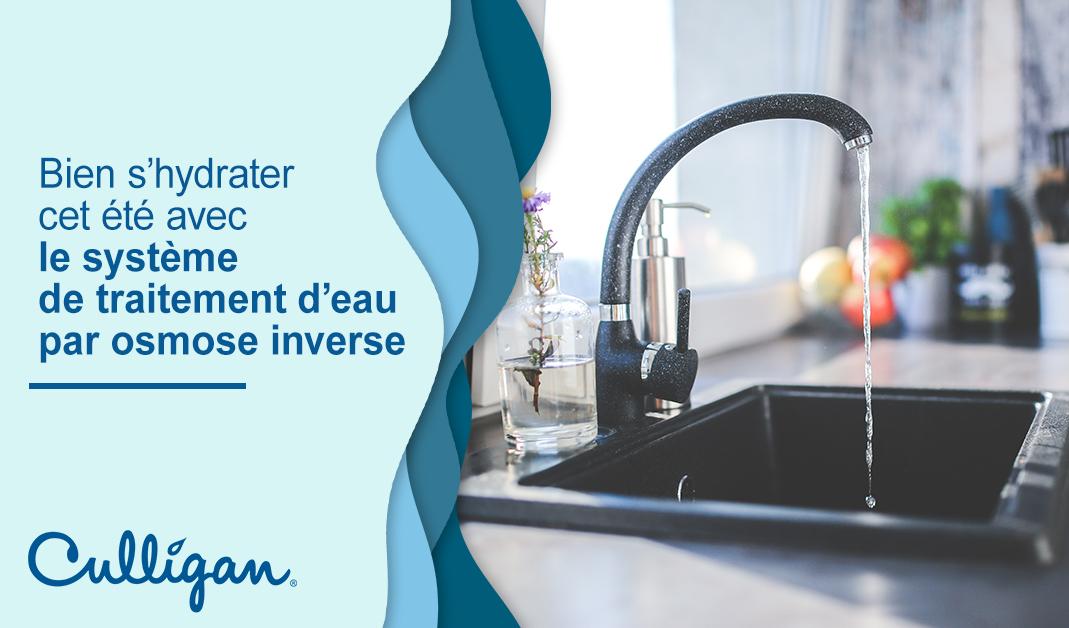 un robinet qui coule dans une maison au Québec